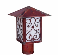 Arroyo Craftsman TRP-9AS Timber Ridge 9 inch Outdoor Light Post with Ashbury Filigree