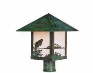 Arroyo Craftsman TRP-9TR Timber Ridge 9 inch Outdoor Light Post with Trout Filigree