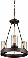 Artcraft AC10003 Menlo Park Contemporary Dark Chocolate Mini Chandelier Lighting