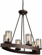 Artcraft AC10005 Menlo Park Contemporary Dark Chocolate Island Lighting