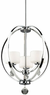 Artcraft AC10033CH Piccadilly Chrome Halogen Mini Chandelier Light