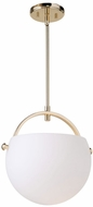Artcraft AC10080PB Single Satin Nickel Lighting Pendant