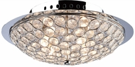 Artcraft AC10100 Gage Park Contemporary Chrome Halogen Ceiling Lighting Fixture