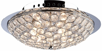 Artcraft AC10101 Gage Park Modern Chrome Halogen Ceiling Light Fixture
