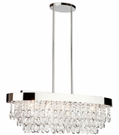 Artcraft AC10112 Elegante Contemporary Chrome Halogen Kitchen Island Light