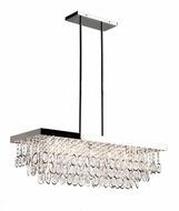 Artcraft AC10116 Elegante Contemporary Chrome Halogen Island Light Fixture