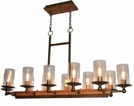 Artcraft AC10140BB Legno Rustico Burnished Brass Kitchen Island Light Fixture