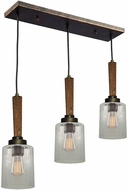 Artcraft AC10143BB Legno Rustico Burnished Brass Multi Pendant Hanging Light