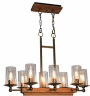 Artcraft AC10148BB Legno Rustico Burnished Brass Island Light Fixture
