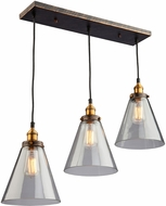 Artcraft AC10168 Greenwich Copper Brown Multi Drop Lighting Fixture