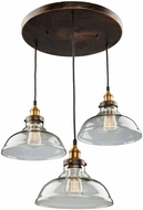 Artcraft AC10173 Greenwich Copper Brown Multi Lighting Pendant