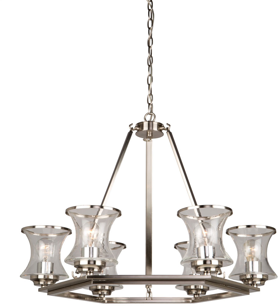 Artcraft ac10236bn dorsett contemporary brushed nickel chandelier artcraft ac10236bn dorsett contemporary brushed nickel chandelier lamp loading zoom aloadofball Image collections