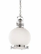 Artcraft AC10244CH Victoriaville Nautical Chrome Hanging Pendant Lighting