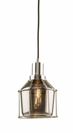 Artcraft AC10290CH Fifth Avenue Contemporary Chrome Mini Hanging Pendant Light