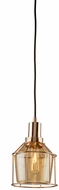 Artcraft AC10290RG Fifth Avenue Modern Rose Gold Mini Pendant Hanging Light