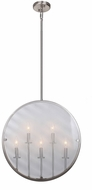 Artcraft AC10301SN Harbor Point Modern Satin Nickel Pendant Lighting