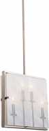 Artcraft AC10302SN Harbor Point Modern Satin Nickel Lighting Pendant