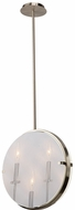 Artcraft AC10303SN Harbor Point Modern Satin Nickel Hanging Lamp