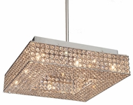 Artcraft AC10348 Bella Vista Stainless Steel Halogen Hanging Pendant Lighting