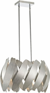 Artcraft AC10374BN 5th Avenue Modern Brushed Nickel & Chrome Halogen Mini Ceiling Light Pendant