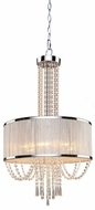 Artcraft AC10385 Valenzia Chrome Ceiling Pendant Light