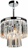 Artcraft AC10403CH El Dorado Chrome Mini Hanging Chandelier