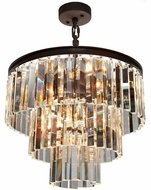 Artcraft AC10409JV El Dorado Java Brown Mini Lighting Chandelier