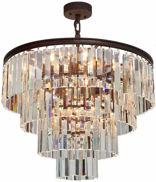 Artcraft AC10410JV El Dorado Java Brown Chandelier Light