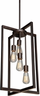 Artcraft AC10414 Gastown Modern Oil Rubbed Bronze 15  Foyer Light Fixture