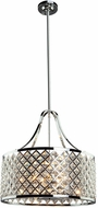 Artcraft AC10425 Lattice Chrome Drum Drop Lighting Fixture
