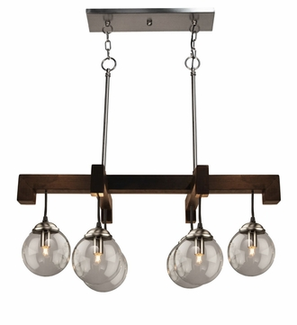 Artcraft AC10446EN Espresso Contemporary Espresso Halogen Island Lighting