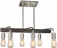 Artcraft AC10456BN Jasper Park Modern Brushed Nickel Island Lighting