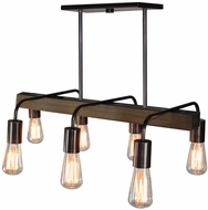 Artcraft AC10456BU Jasper Park Contemporary Bronze Kitchen Island Lighting