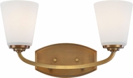 Artcraft AC10462VB Hudson Vintage Brass 2-Light Lighting For Bathroom