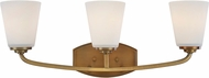 Artcraft AC10463VB Hudson Vintage Brass 3-Light Bathroom Light