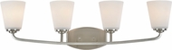 Artcraft AC10464BN Hudson Brushed Nickel 4-Light Bathroom Lighting Fixture