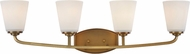 Artcraft AC10464VB Hudson Vintage Brass 4-Light Vanity Lighting