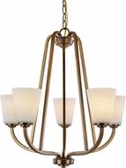 Artcraft AC10465VB Hudson Vintage Brass Mini Chandelier Lighting