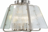 Artcraft AC10473BN La Traviata Contemporary Brushed Nickel Ceiling Light Fixture