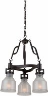 Artcraft AC10504BK Franklin Black Mini Chandelier Light