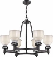 Artcraft AC10506BK Franklin Black Ceiling Chandelier