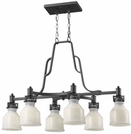 Artcraft AC10507BK Franklin Black Kitchen Island Light