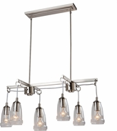 Artcraft AC10526BN Nottingham Modern Brushed Nickel Island Light Fixture