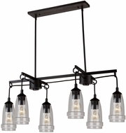 Artcraft AC10526JV Nottingham Contemporary Java Brown Kitchen Island Light Fixture