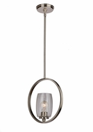 Artcraft AC10530BN San Antonio Modern Brushed Nickel Mini Ceiling Pendant Light