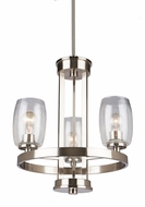 Artcraft AC10533BN San Antonio Modern Brushed Nickel Mini Chandelier Light