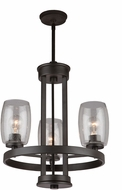 Artcraft AC10533JV San Antonio Contemporary Java Brown Mini Ceiling Chandelier