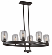 Artcraft AC10536JV San Antonio Modern Java Brown Kitchen Island Lighting