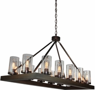 Artcraft AC10554BU Jasper Park Contemporary Bronze Island Light Fixture