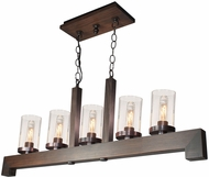 Artcraft AC10565BU Jasper Park Contemporary Bronze Island Lighting